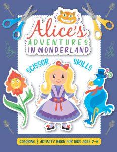 Libro de actividades de Alicia en el Pais de las Maravillas de 100 paginas Los mejores libros para colorear de Alicia en el pais de las Maravillas