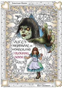 Libro para colorear de Alice Nightmare in Wonderland de 74 paginas Los mejores libros para colorear de Alice in Wonderland de Disney