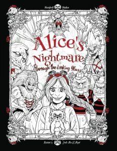 Libro para colorear de Alicia a traves del espejo para colorear de 40 paginas Los mejores libros para colorear de Alicia en el pais de las Maravillas