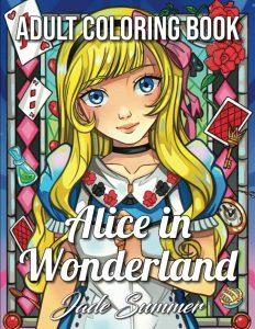 Libro para colorear de Alicia en el Pais de las Maravillas para colorear de 100 paginas Los mejores libros para colorear de Alicia en el pais de las Maravillas