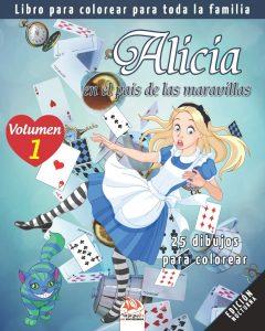 Libro para colorear de Alicia en el Pais de las Maravillas para colorear de 25 paginas Los mejores libros para colorear de Alicia en el pais de las Maravillas