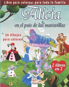 Libro para colorear de Alicia en el Pais de las Maravillas para colorear de 50 paginas 2 Los mejores libros para colorear de Alicia en el pais de las Maravillas