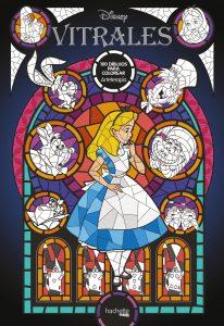 Libro para colorear de Alicia en el pais de las maravillas de 100 paginas Los mejores libros para colorear de Alicia de Disney de vidrieras