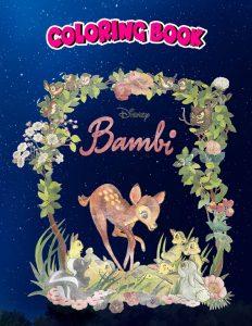 Libro para colorear de Bambi de 100 paginas 3 Los mejores libros para colorear de Bambi de Disney