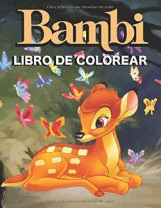 Libro para colorear de Bambi de 52 paginas Los mejores libros para colorear de Bambi de Disney