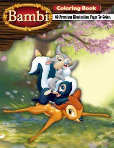 Libro para colorear de Bambi de 60 paginas Los mejores libros para colorear de Bambi de Disney 2