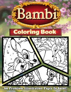 Libro para colorear de Bambi de 60 paginas Los mejores libros para colorear de Bambi de Disney