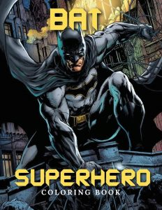 Libro para colorear de Batman de 50 paginas Los mejores libros para colorear de Batman
