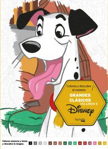 Libro para colorear de Disney de grandes clasicos de 100 paginas Volumen 5
