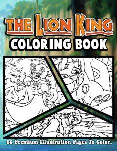 Libro para colorear del Rey Leon de 60 paginas Los mejores libros para colorear del Rey Leon de Disney