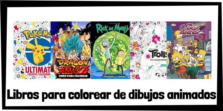 Guia de Libros para colorear de dibujos animados Los mejores libros de colorear de series y dibujos animados HOME