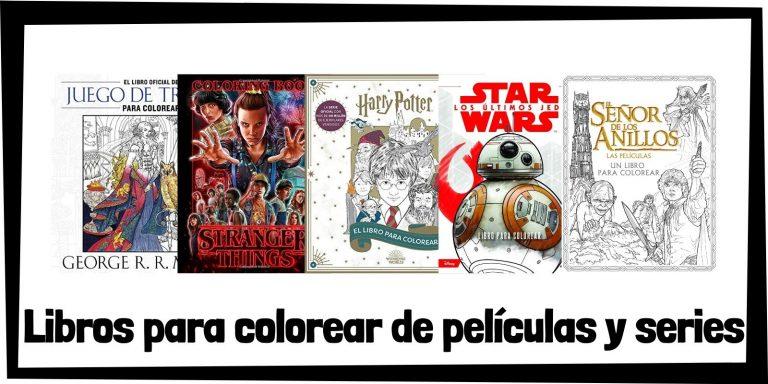 Guia de Libros para colorear de peliculas y series de television Los mejores libros de colorear de peliculas y series HOME