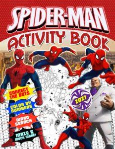 Libro de actividades de Spider man de 52 paginas 2 Los mejores libros para colorear de Spider man de Marvel