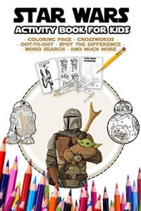 Libro de actividades de Star Wars de 48 paginas Los mejores libros para colorear de Star Wars