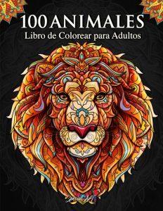 Libro Para Colorear De 100 Animales Con Mandalas De 100 Páginas – Los Mejores Libros Para Colorear De Leones Y Animales
