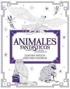 Libro para colorear de Animales fantasticos de 80 paginas Los mejores libros para colorear de Harry Potter