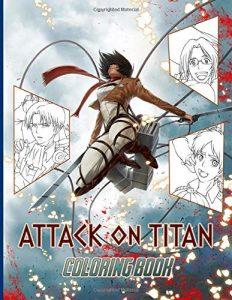 Libro para colorear de Ataque a los titanes de 100 paginas 2 Los mejores libros para colorear de Ataque a los titanes Attack on titan