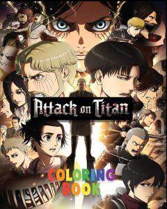 Libro para colorear de Ataque a los titanes de 100 paginas Los mejores libros para colorear de Ataque a los titanes Attack on titan