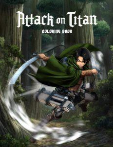 Libro para colorear de Ataque a los titanes de 110 paginas Los mejores libros para colorear de Ataque a los titanes Attack on titan