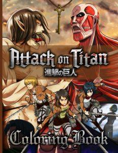 Libro para colorear de Ataque a los titanes de 60 paginas Los mejores libros para colorear de Ataque a los titanes Attack on titan