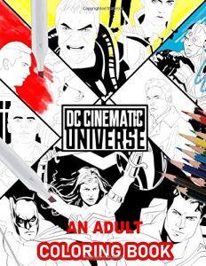 Libro para colorear de DC Cinematic de 25 paginas Los mejores libros para colorear de personajes de DC La Liga de la Justicia