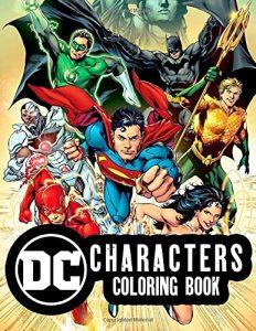 Libro para colorear de DC de 110 paginas Los mejores libros para colorear de personajes de DC La Liga de la Justicia