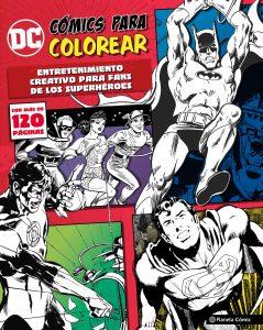 Libro para colorear de DC de 120 paginas Los mejores libros para colorear de personajes de DC La Liga de la Justicia