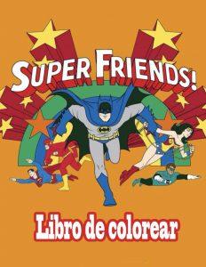 Libro para colorear de DC de 24 paginas Los mejores libros para colorear de personajes de DC La Liga de la Justicia