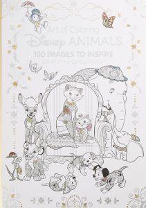 Libro Para Colorear De Disney Animals De Disney De 100 Páginas - Los Mejores Libros Para Colorear De Disney Pixar