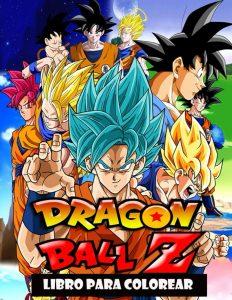 Libro para colorear de Dragon Ball Z de 92 paginas Los mejores libros para colorear de Dragon Ball Z