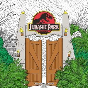 Libro para colorear de Jurassic Park de 96 páginas - Los mejores libros para colorear de dinosaurios de Jurassic World y Jurasssic Park