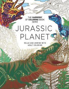 Libro Para Colorear De Jurassic Planet De 74 Páginas - Los Mejores Libros Para Colorear De Dinosaurios De Jurassic World Y Jurasssic Park