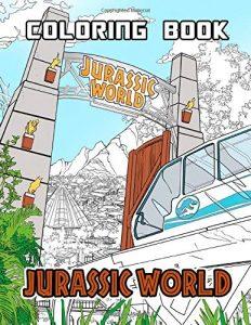 Libro para colorear de Jurassic World de 68 páginas - Los mejores libros para colorear de dinosaurios de Jurassic World y Jurasssic Park