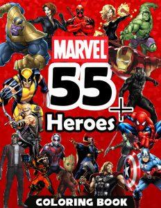 Libro para colorear de Marvel de 100 paginas Los mejores libros para colorear de Marvel