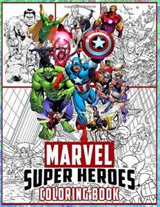 Libro para colorear de Marvel de 106 paginas Los mejores libros para colorear de los Vengadores de Marvel