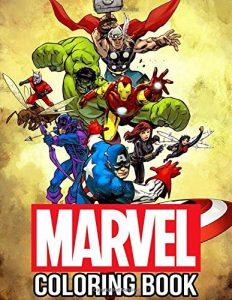 Libro para colorear de Marvel de 112 paginas Los mejores libros para colorear de los Vengadores de Marvel