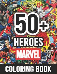 Libro para colorear de Marvel de 118 paginas Los mejores libros para colorear de los Vengadores de Marvel