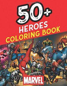 Libro para colorear de Marvel de 119 paginas Los mejores libros para colorear de los Vengadores de Marvel