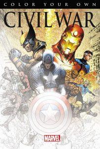 Libro para colorear de Marvel de 12 paginas de Civil War Los mejores libros para colorear de los Vengadores de Marvel