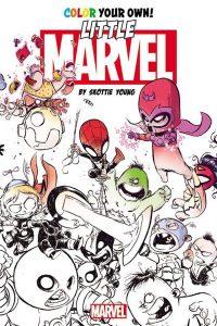 Libro para colorear de Marvel de 120 paginas Little Los mejores libros para colorear de los Vengadores de Marvel
