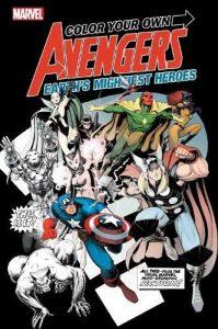 Libro para colorear de Marvel de 120 paginas comic Los mejores libros para colorear de los Vengadores de Marvel