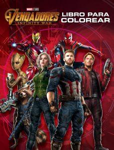 Libro para colorear de Marvel de 48 paginas Infinity War Los mejores libros para colorear de los Vengadores de Marvel