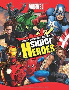 Libro para colorear de Marvel de 52 paginas Super Heroes Los mejores libros para colorear de los Vengadores de Marvel