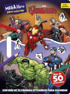 Libro para colorear de Marvel de 64 paginas Super Heroes Los mejores libros para colorear de los Vengadores de Marvel