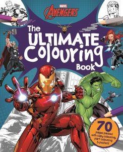 Libro para colorear de Marvel de 70 paginas Los mejores libros para colorear de Marvel de los Vengadores
