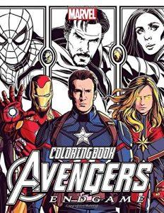 Libro para colorear de Marvel de 74 paginas de Vengadores Endgame Los mejores libros para colorear de los Vengadores de Marvel