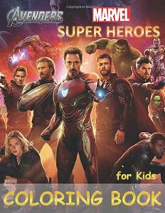 Libro para colorear de Marvel de 77 paginas Los mejores libros para colorear de los Vengadores de Marvel