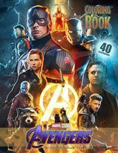 Libro para colorear de Marvel de 79 paginas Endgame Los mejores libros para colorear de los Vengadores de Marvel