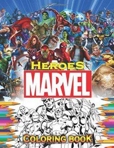 Libro para colorear de Marvel de 80 paginas Los mejores libros para colorear de los Vengadores de Marvel