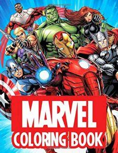 Libro para colorear de Marvel de 90 paginas 2 Los mejores libros para colorear de los Vengadores de Marvel